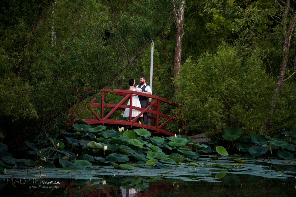 Red Bridge Bride Groom Wedding