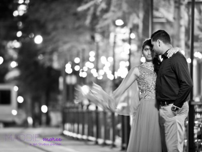 downtown memphis engagement couple