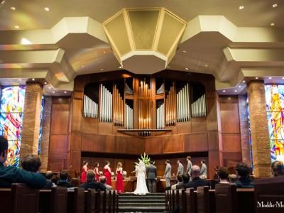 Christ Methodist wedding ceremony photographer