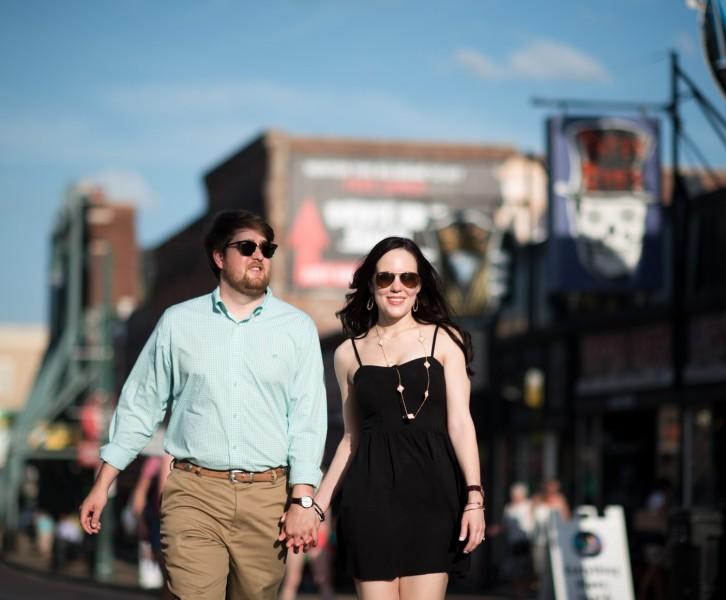 beale street engagement photography