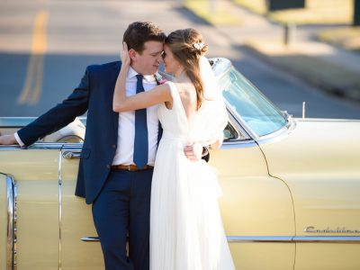 vintage cadillac wedding photography