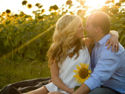 maddie moree engagement sunflowers