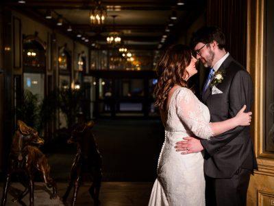 Peabody bride and groom maddie moree